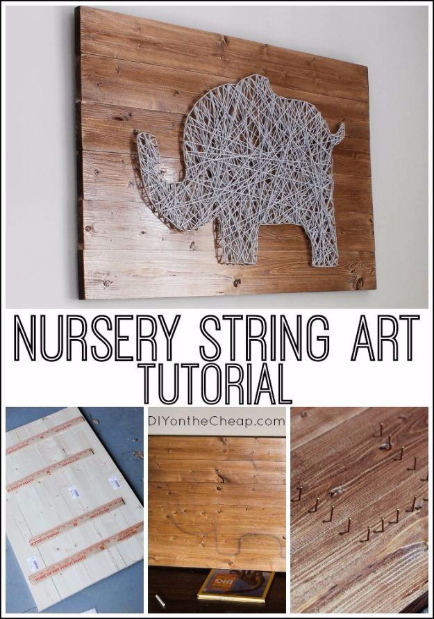DIY Ideas With Yarn and Best Yarn Crafts - DIY Nursery String Art - Wall Hangings, Easy Dream Catchers, Crochet Ideas for Teens, Adults and Kids - Knitting , No Sew and Weaving Projects Make Awesome Wall Art and Home Decor on A Budget