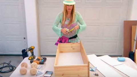 She Takes An Old Dresser Drawer And What She Does With It Is Genius