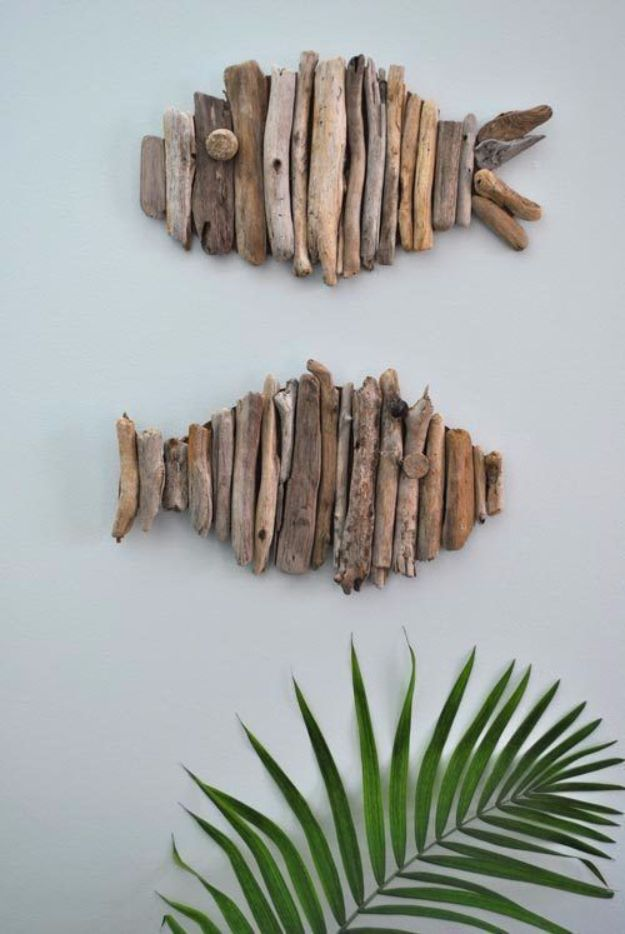 Rustic Wall Art Ideas - Driftwood Fish - DIY Farmhouse Wall Art and Vintage Decor for Walls - Country Crafts and Rustic Home Decor Made Easy With Instructions and Tutorials - String Art, Repurposed Pallet Projects, Mason Jar Crafts, Vintage Signs, Word Art and Letters, Monograms and Sewing Projects