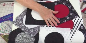 She Cuts Circles, Attaches Them To Squares And Makes A Brilliantly Beautiful Item!