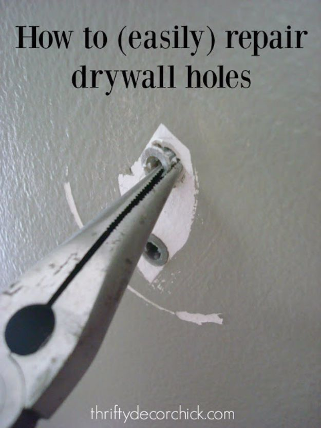 Easy Home Repair Hacks - Easily Patch Dry Wall Holes - Quick Ways To Fix Your Home With Cheap and Fast DIY Projects - Step by step Tutorials, Good Ideas for Renovating, Simple Tips and Tricks for Home Improvement on A Budget #diy #homeimprovement