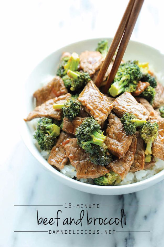 Easy Dinner Ideas for Two - Easy Beef And Broccoli - Quick, Fast and Simple Recipes to Make for Two People - Freeze and Make Ahead Dinner Recipe Tips for Best Weeknight Dinners - Chicken, Fish, Vegetable, No Bake and Vegetarian Options - Crockpot, Microwave, Healthy, Lowfat Options http://diyjoy.com/easy-dinners-for-two