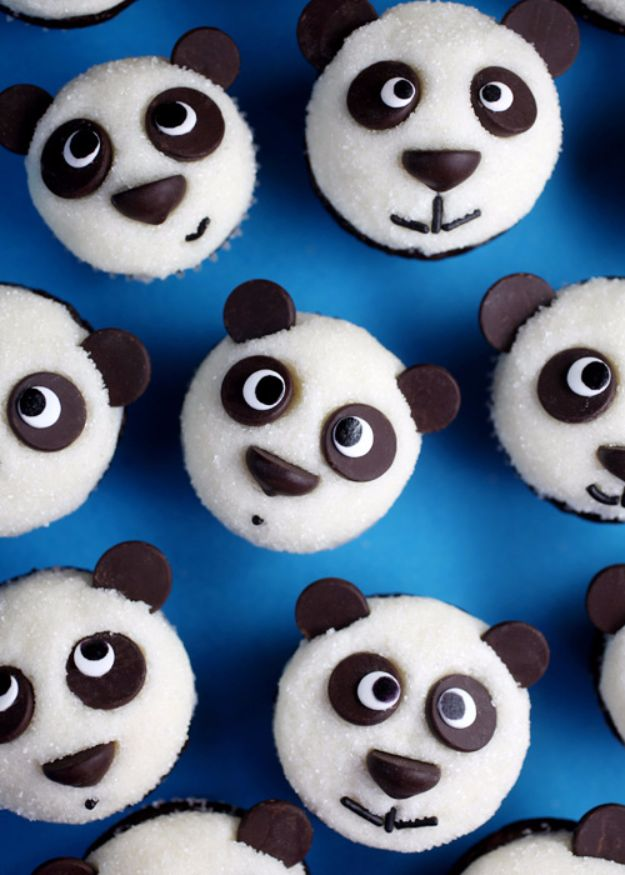 Cool Cupcake Decorating Ideas - Easy Little Panda Cupcakes - Easy Ways To Decorate Cute, Adorable Cupcakes - Quick Recipes and Simple Decorating Tips With Icing, Candy, Chocolate, Buttercream Frosting and Fruit kids birthday party ideas cake