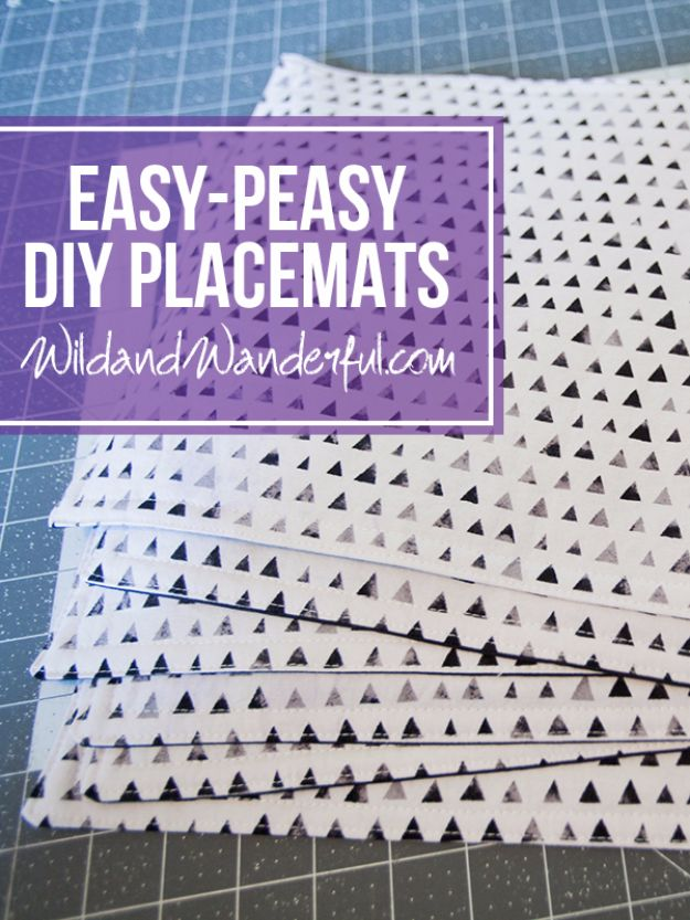 DIY Napkins and Placemats - Easy Peasy DIY Placemats - Easy Sewing Projects, Cute No Sew Ideas and Creative Ways To Make a Napkin or Placemat - Quick DIY Gift Ideas for Friends, Family and Awesome Home Decor - Cheap Do It Yourself Kitchen Decor - Simple Wedding Gifts You Can Make On A Budget