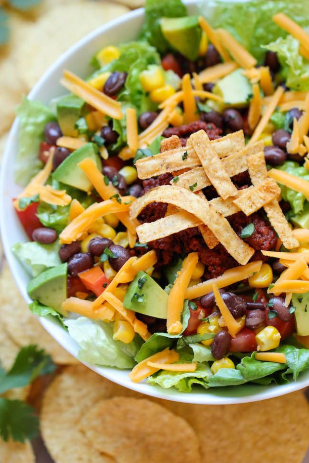 Back to School Lunch Ideas - Easy Taco Salad - Quick Snacks, Lunches and Homemade Lunchables - Bento Box Style Lunch for People in A Hurry - Fast Lunch Recipes to Pack Ahead - Healthy Ideas for Kids, Teens and Adults