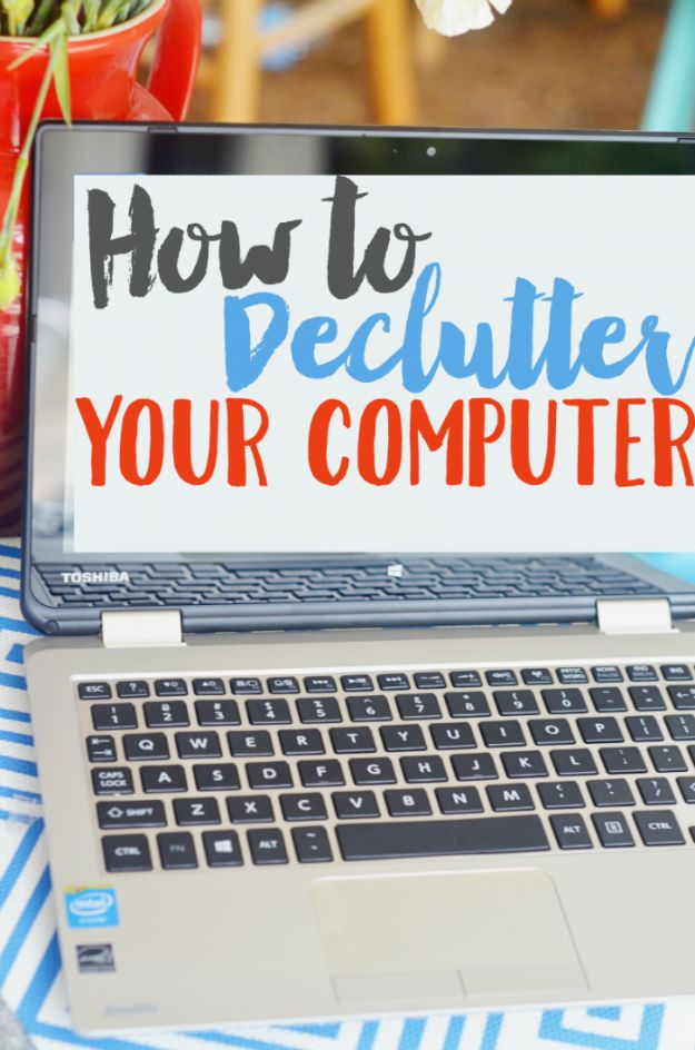 DIY Ideas for Your Computer - Effectively Declutter Your Computer - Cool Desk, Home Office, Bulletin Boards and Tech Projects for Kids, Awesome Tips and Tricks for Your Laptop and Desktop, Best Shortcuts and Neat Ways To Make Your Computer Even Better With Productivity Tips http://diyjoy.com/diy-ideas-computer