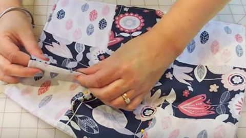 She Sews A Quilted Square To Fabric And What She Makes Is Very Useful. Watch! | DIY Joy Projects and Crafts Ideas