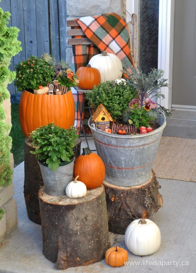 Best Crafts for Fall Decorating - Fall Fairy Garden - DIY Home Decor, Mason Jar Ideas, Dollar Store Crafts, Rustic Pumpkin Ideas, Wreaths, Candles and Wall Art, Centerpieces, Wedding Decorations, Homemade Gifts, Craft Projects with Leaves, Flowers and Burlap, Painted Art, Candles and Luminaries for Cool Home Decor - Quick and Easy Projects With Step by Step Tutorials and Instructions http://diyjoy.com/best-fall-decorating-ideas