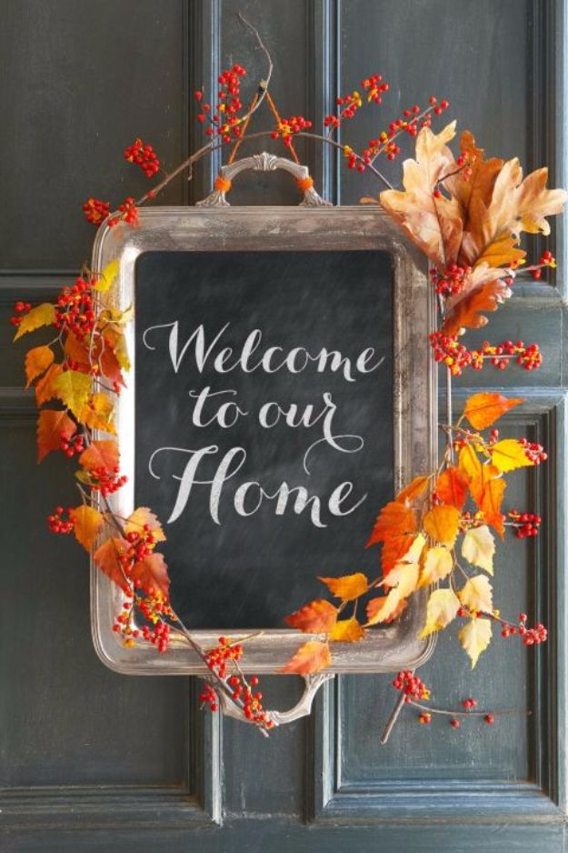 Best Crafts for Fall Decorating - Fall Welcome Sign - DIY Home Decor, Mason Jar Ideas, Dollar Store Crafts, Rustic Pumpkin Ideas, Wreaths, Candles and Wall Art, Centerpieces, Wedding Decorations, Homemade Gifts, Craft Projects with Leaves, Flowers and Burlap, Painted Art, Candles and Luminaries for Cool Home Decor - Quick and Easy Projects With Step by Step Tutorials and Instructions