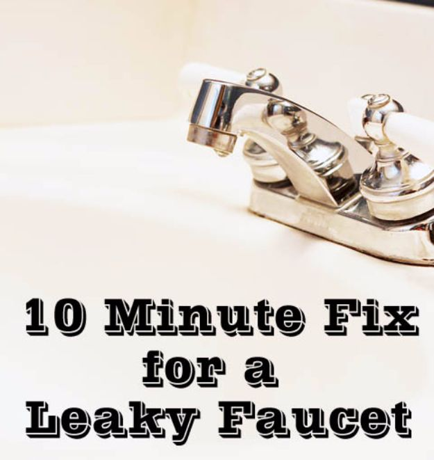 Easy Home Repair Hacks - Fix a Leaky Faucet in 10 minutes - Quick Ways To Fix Your Home With Cheap and Fast DIY Projects - Step by step Tutorials, Good Ideas for Renovating, Simple Tips and Tricks for Home Improvement on A Budget #diy #homeimprovement