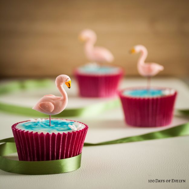 Cool Cupcake Decorating Ideas - Flamingo Cupcakes - Easy Ways To Decorate Cute, Adorable Cupcakes - Quick Recipes and Simple Decorating Tips With Icing, Candy, Chocolate, Buttercream Frosting and Fruit kids birthday party ideas cake
