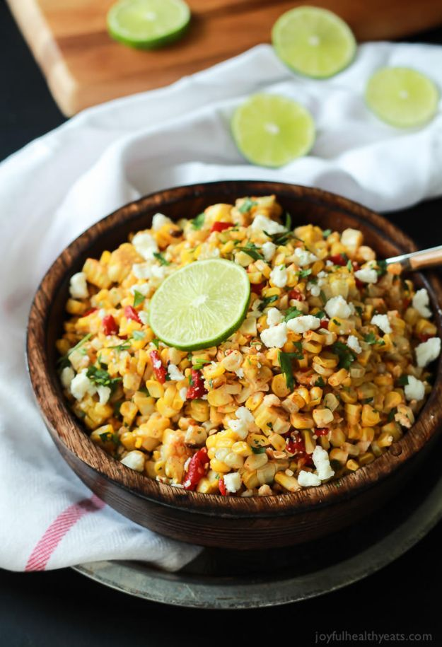 Back to School Lunch Ideas - Grilled Chili Lime Sweet Corn Salad - Quick Snacks, Lunches and Homemade Lunchables - Bento Box Style Lunch for People in A Hurry - Fast Lunch Recipes to Pack Ahead - Healthy Ideas for Kids, Teens and Adults