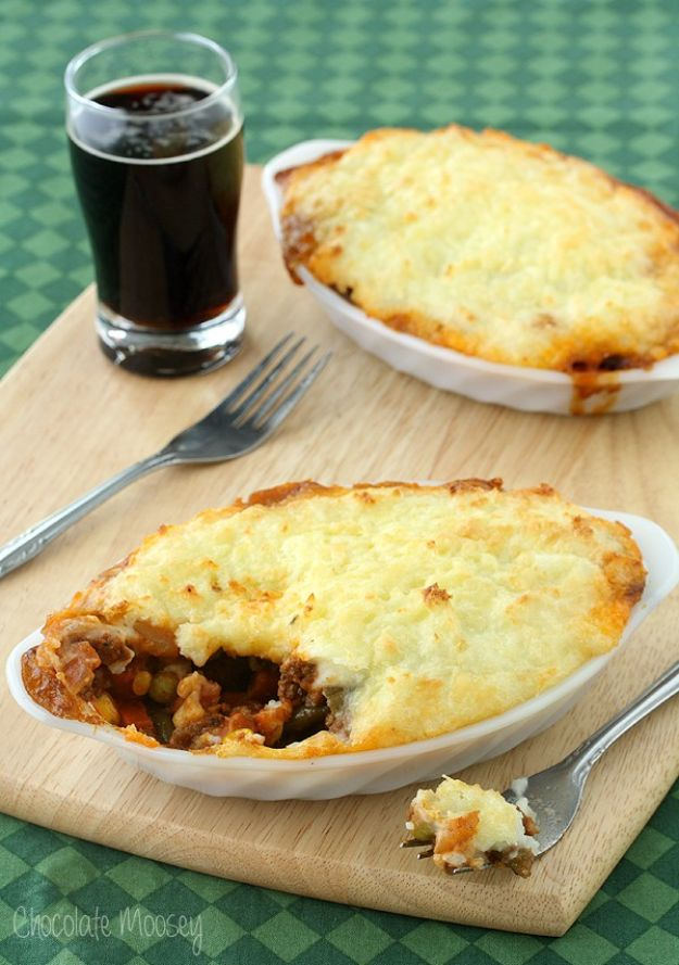 Easy Dinner Ideas for Two - Guinness Shepherd's Pie For Two - Quick, Fast and Simple Recipes to Make for Two People - Freeze and Make Ahead Dinner Recipe Tips for Best Weeknight Dinners - Chicken, Fish, Vegetable, No Bake and Vegetarian Options - Crockpot, Microwave, Healthy, Lowfat