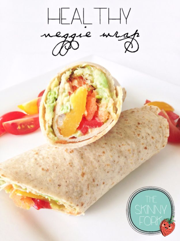 Back to School Lunch Ideas - Healthy Veggie Wrap - Quick Snacks, Lunches and Homemade Lunchables - Bento Box Style Lunch for People in A Hurry - Fast Lunch Recipes to Pack Ahead - Healthy Ideas for Kids, Teens and Adults