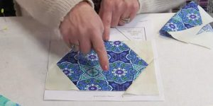 She Cuts Hexagon Shapes And Wait Till You See How Cool They Look Sewn Together. Easy!