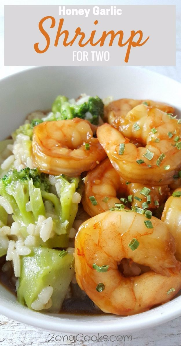 Easy Dinner Ideas for Two - Honey Garlic Shrimp Recipe for Two - Quick, Fast and Simple Recipes to Make for Two People - Freeze and Make Ahead Dinner Recipe Tips for Best Weeknight Dinners - Chicken, Fish, Vegetable, No Bake and Vegetarian Options - Crockpot, Microwave, Healthy, Lowfat