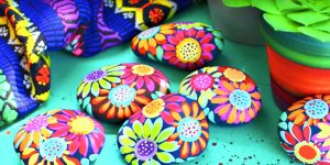 He Paints These Inspiration Rocks With Acrylic Paint And Brightens Someone's Day!