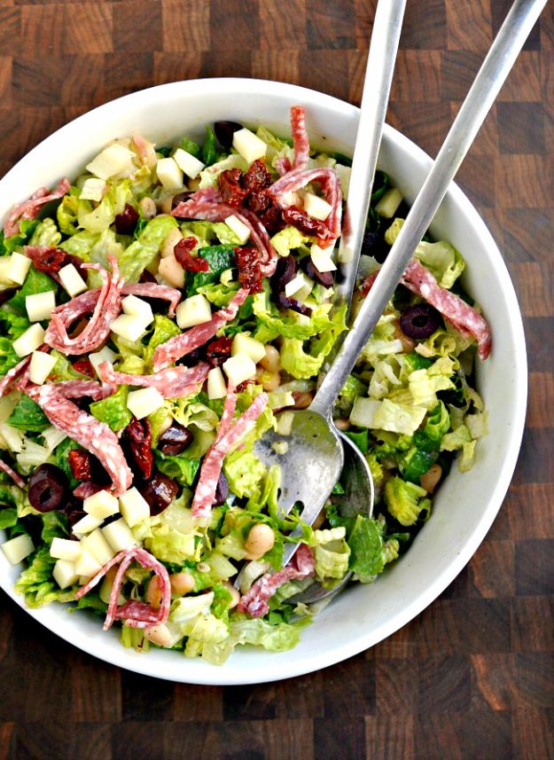 Easy Dinner Ideas for Two - Italian Chopped Salad for Two - Quick, Fast and Simple Recipes to Make for Two People - Freeze and Make Ahead Dinner Recipe Tips for Best Weeknight Dinners - Chicken, Fish, Vegetable, No Bake and Vegetarian Options - Crockpot, Microwave, Healthy, Lowfat Options http://diyjoy.com/easy-dinners-for-two