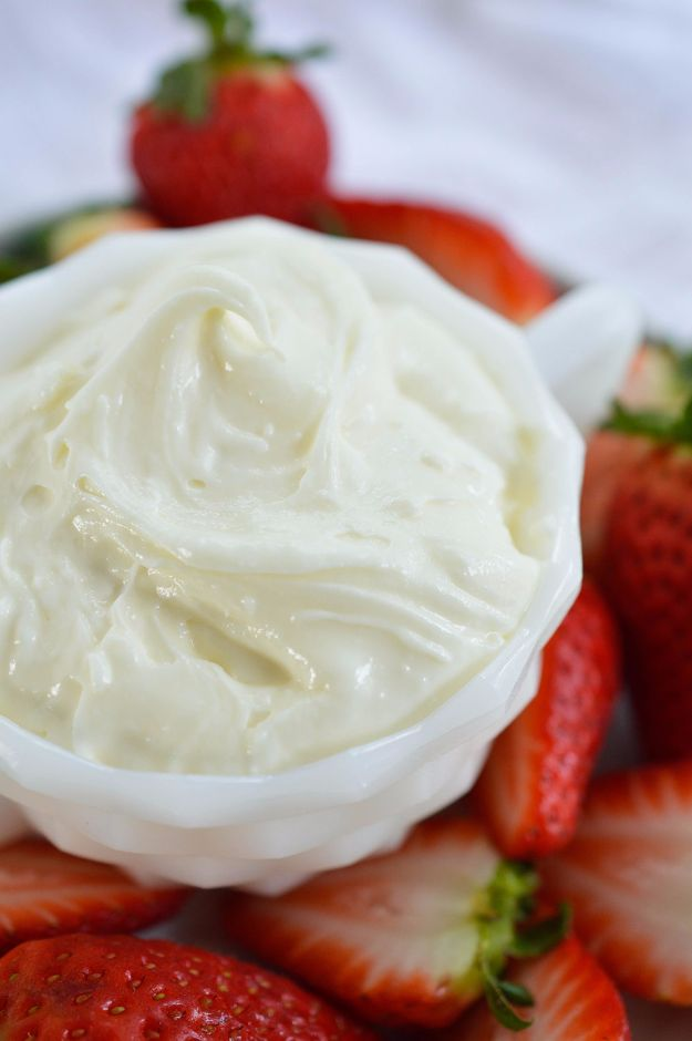 Best Dip Recipes - Marshmallow Fluff Fruit Dip - Easy Recipe Ideas for A Party Appetizer - Cold Recipe Ideas for Chips, Crockpot, Mexican Bean Dip, Desserts and Healthy Fruit Options - Italian Dressing and Ranch Dip Recipe Ideas http://diyjoy.com/best-dip-recipes