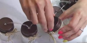 She Bought Mini Mason Jars At The Dollar Store And What She Does With Them Is So Clever!