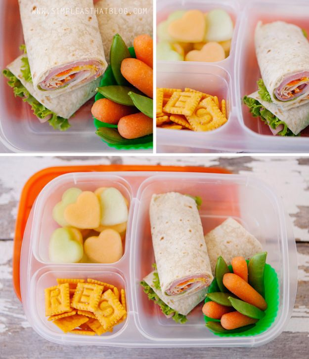 Back to School Lunch Ideas - Meat, Cheese and Veggie Wraps - Quick Snacks, Lunches and Homemade Lunchables - Bento Box Style Lunch for People in A Hurry - Fast Lunch Recipes to Pack Ahead - Healthy Ideas for Kids, Teens and Adults