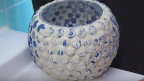 She Covers These Glass Pebbles With Grout And Watch What Happens