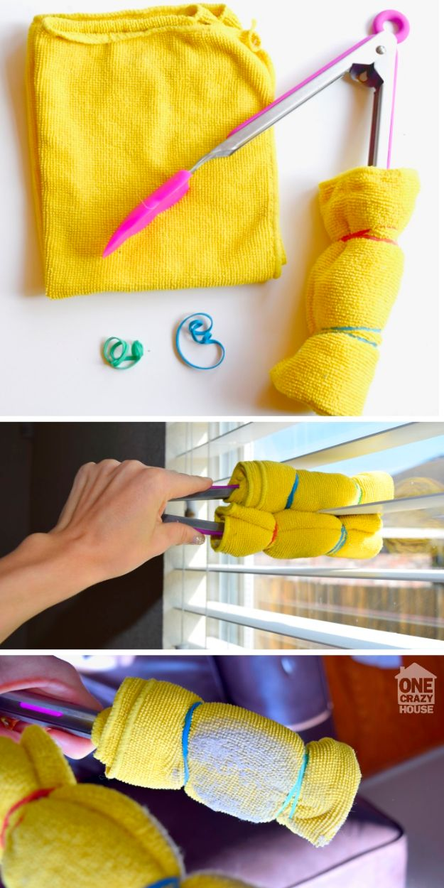 Cleaning Tips and Tricks - Most Efficient Way To Clean Blinds - Best Cleaning Hacks, Recipes and Tutorials - Daily Ways to Clean For Kitchen, For Couches, Bathroom, Bedroom, Laundry, Floors, Furniture, Windows, Cleaners and More for Cleaning Your Home- Quick Ideas for Lazy People - Cool Cleaning Hack Tutorial - DIY Projects and Crafts by DIY JOY http://diyjoy.com/diy-cleaning-tips-tricks