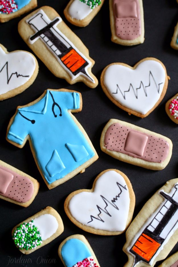 Cool Cookie Decorating Ideas - Nursing Sugar Cookies - Easy Ways To Decorate Cute, Adorable Cookies - Quick Recipes and Simple Decorating Tips With Icing, Candy, Chocolate, Buttercream Frosting and Fruit - Best Party Trays and Cookie Arrangements http://diyjoy.com/cookie-decorating-ideas