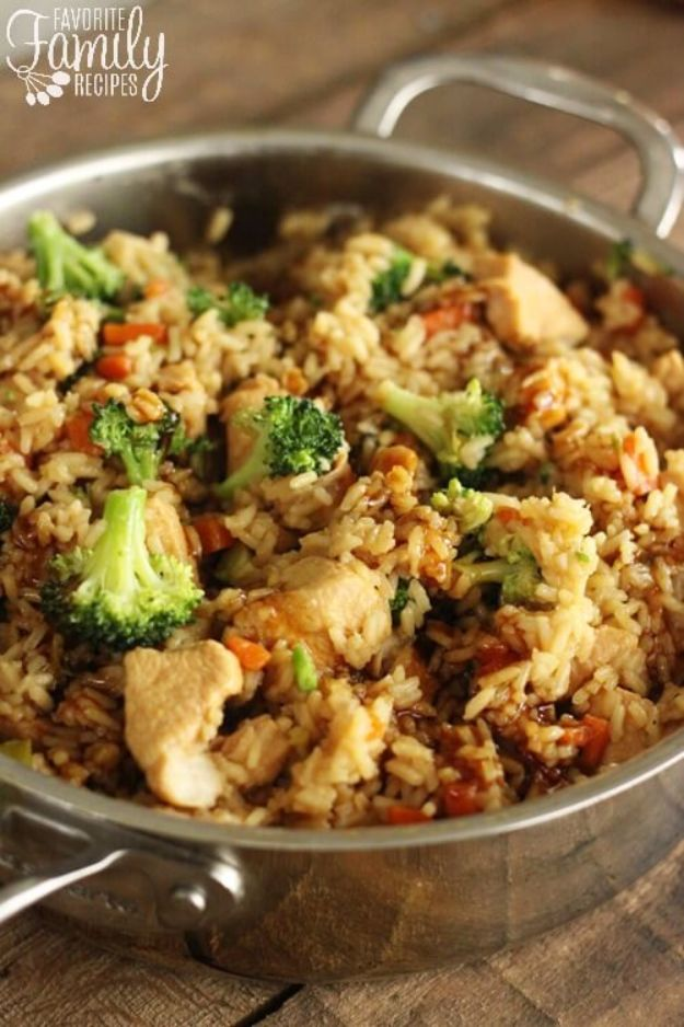 Easy Dinner Ideas for One - One Pot Chicken Teriyaki Rice Bowls - Quick, Fast and Simple Recipes to Make for a Single Person - Freeze and Make Ahead Dinner Recipe Tips for Best Weeknight Dinners for Singles - Chicken, Fish, Vegetable, No Bake and Vegetarian Options - Crockpot, Microwave, Healthy, Lowfat Options