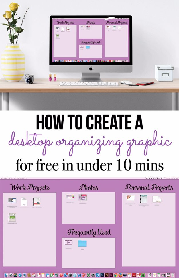 DIY Ideas for Your Computer - Organize Your Computer Desktop - Cool Desk, Home Office, Bulletin Boards and Tech Projects for Kids, Awesome Tips and Tricks for Your Laptop and Desktop, Best Shortcuts and Neat Ways To Make Your Computer Even Better With Productivity Tips http://diyjoy.com/diy-ideas-computer