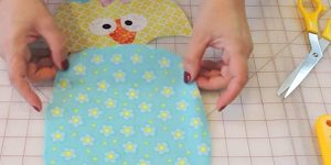 She Cuts An Oval Out Of Fabric And Makes An Item That Is A Must-Have For All Kitchens!