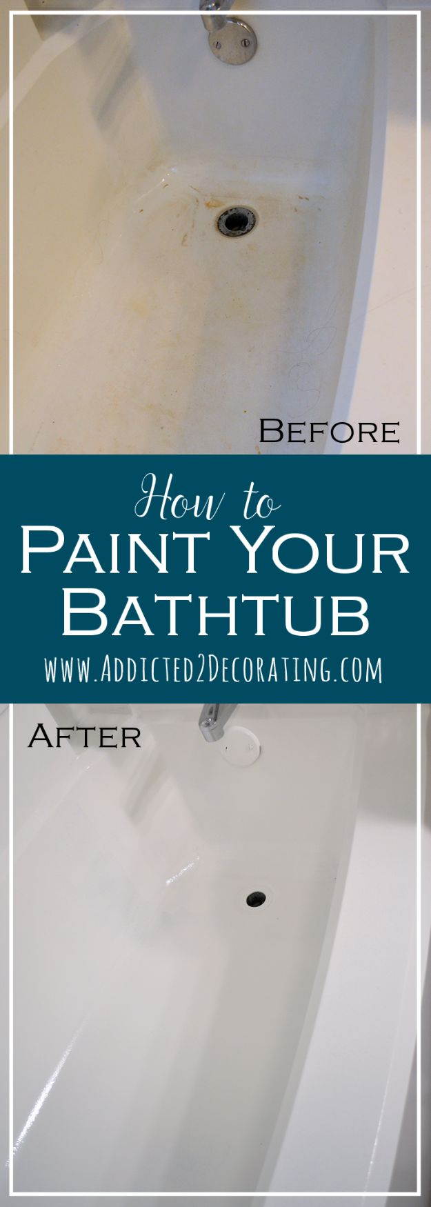 Easy Home Repair Hacks - Paint A Bathtub - Quick Ways to Easily Fix Broken Things Around The House - DIY Tricks for Home Improvement and Repairs - Simple Solutions for Kitchen, Bath, Garage and Yard - Caulk, Grout, Wall Repair and Wood Patching and Staining http://diyjoy.com/easy-home-repair-hacks