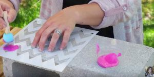 She Paints Designs On Cinder Blocks And Watch What She Does With Them When Finished!