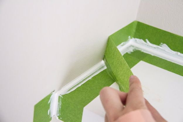 Easy Home Repair Hacks - Perfect Caulk Edge With Painter's Tape - Quick Ways To Fix Your Home With Cheap and Fast DIY Projects - Step by step Tutorials, Good Ideas for Renovating, Simple Tips and Tricks for Home Improvement on A Budget #diy #homeimprovement
