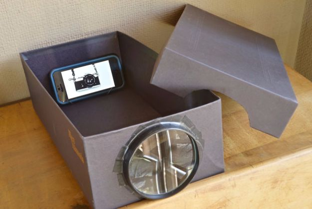 DIY Ideas With Shoe Boxes - Photo Projector - Shoe Box Crafts and Organizers for Storage - How To Make A Shelf, Makeup Organizer, Kids Room Decoration, Storage Ideas Projects - Cheap Home Decor DIY Ideas for Kids, Adults and Teens Rooms #diyideas #upcycle