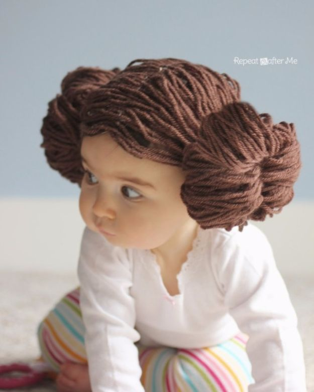 DIY Ideas With Yarn and Best Yarn Crafts - Princess Leia Yarn Wig - Wall Hangings, Easy Dream Catchers, Crochet Ideas for Teens, Adults and Kids - Knitting , No Sew and Weaving Projects Make Awesome Wall Art and Home Decor on A Budget