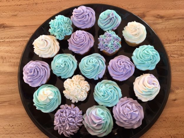 Cool Cupcake Decorating Ideas - Quick And Easy Swirled Cupcakes - Easy Ways To Decorate Cute, Adorable Cupcakes - Quick Recipes and Simple Decorating Tips With Icing, Candy, Chocolate, Buttercream Frosting and Fruit kids birthday party ideas cake