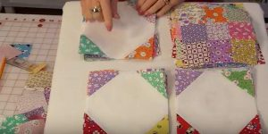She Sews Squares In Diagonal Rows And, Once Again, Makes A Beautiful Item You'll Love!
