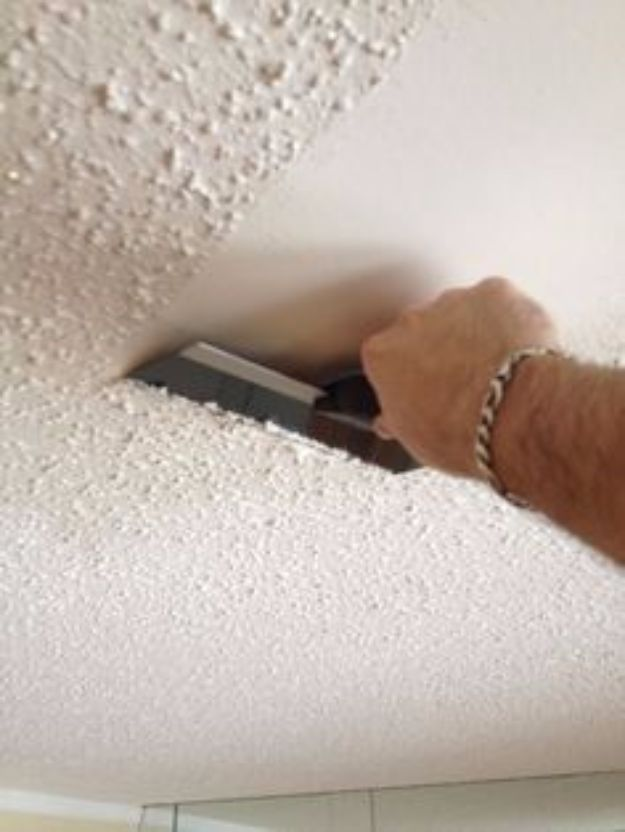 Easy Home Repair Hacks - Remove Popcorn Ceilings - Quick Ways To Fix Your Home With Cheap and Fast DIY Projects - Step by step Tutorials, Good Ideas for Renovating, Simple Tips and Tricks for Home Improvement on A Budget #diy #homeimprovement