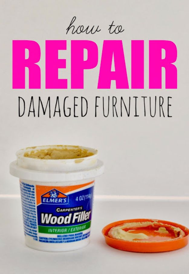 Easy Home Repair Hacks - Repair Damaged Furnitures - Quick Ways To Fix Your Home With Cheap and Fast DIY Projects - Step by step Tutorials, Good Ideas for Renovating, Simple Tips and Tricks for Home Improvement on A Budget #diy #homeimprovement