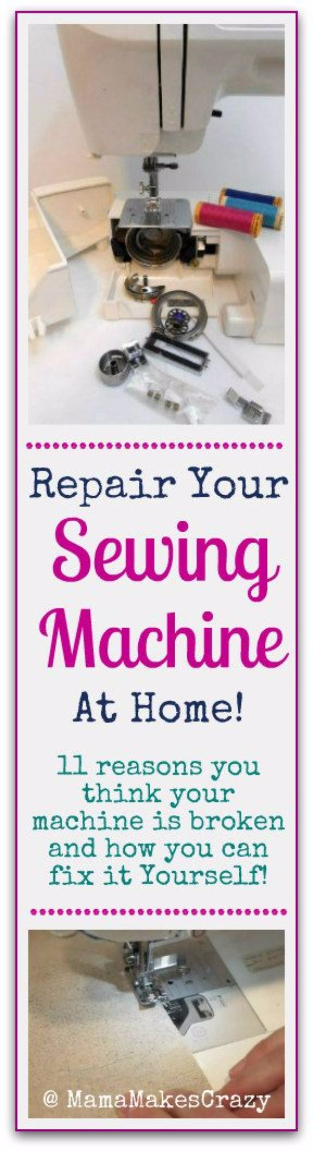 Easy Home Repair Hacks - Repair Your Sewing Machine - Quick Ways To Fix Your Home With Cheap and Fast DIY Projects - Step by step Tutorials, Good Ideas for Renovating, Simple Tips and Tricks for Home Improvement on A Budget #diy #homeimprovement