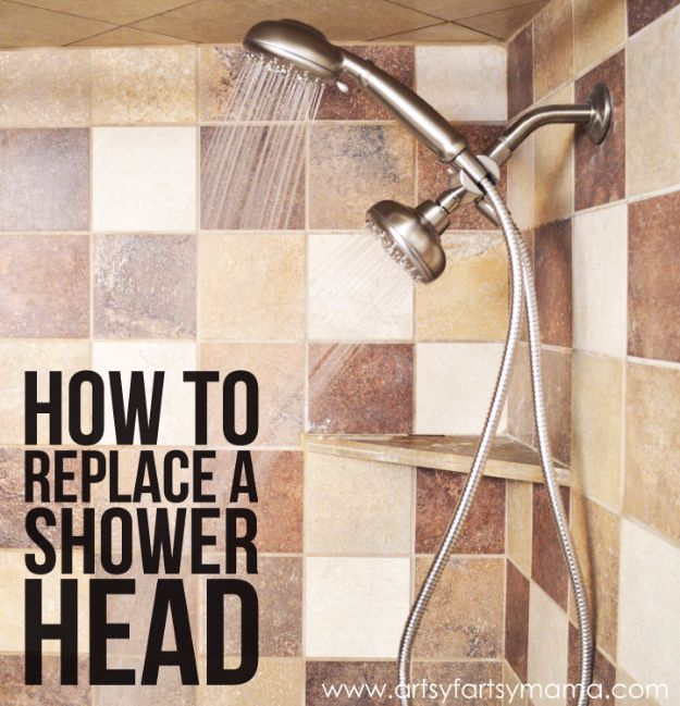 Easy Home Repair Hacks - Replace A Shower Head - Quick Ways To Fix Your Home With Cheap and Fast DIY Projects - Step by step Tutorials, Good Ideas for Renovating, Simple Tips and Tricks for Home Improvement on A Budget #diy #homeimprovement