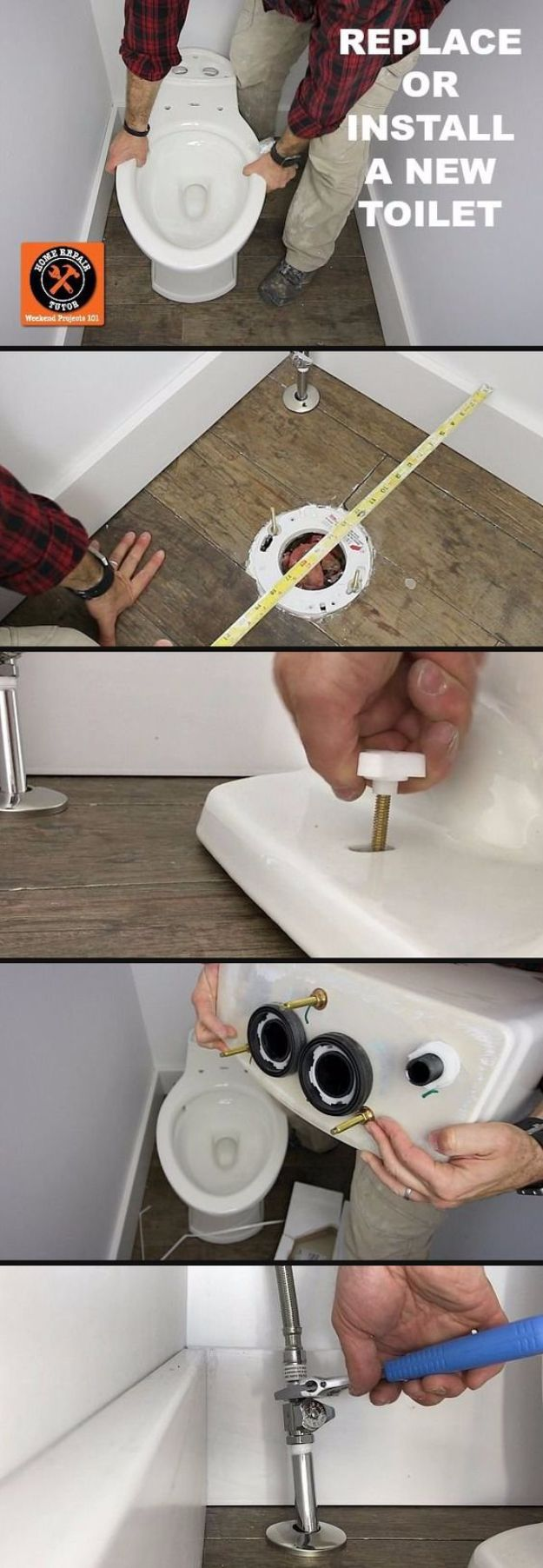 Easy Home Repair Hacks - Replace A Toilet - Quick Ways To Fix Your Home With Cheap and Fast DIY Projects - Step by step Tutorials, Good Ideas for Renovating, Simple Tips and Tricks for Home Improvement on A Budget #diy #homeimprovement