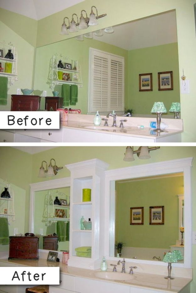 Easy Home Repair Hacks - Revamp Existing Mirror - Quick Ways To Fix Your Home With Cheap and Fast DIY Projects - Step by step Tutorials, Good Ideas for Renovating, Simple Tips and Tricks for Home Improvement on A Budget #diy #homeimprovement