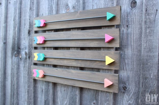Rustic Wall Art Ideas - Rustic Arrow Wall Art - DIY Farmhouse Wall Art and Vintage Decor for Walls - Country Crafts and Rustic Home Decor Made Easy With Instructions and Tutorials - String Art, Repurposed Pallet Projects, Mason Jar Crafts, Vintage Signs, Word Art and Letters, Monograms and Sewing Projects http://diyjoy.com/rustic-wall-art-ideas
