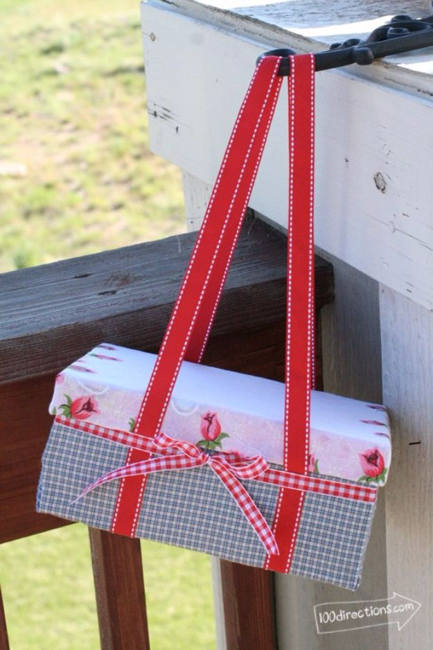 DIY Ideas With Shoe Boxes - Shoe Box Picnic Basket - Shoe Box Crafts and Organizers for Storage - How To Make A Shelf, Makeup Organizer, Kids Room Decoration, Storage Ideas Projects - Cheap Home Decor DIY Ideas for Kids, Adults and Teens Rooms #diyideas #upcycle