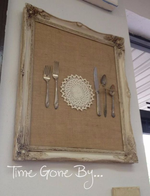 DIY Silverware Upgrades - Silverware Wall Art - Creative Ways To Improve Boring Silver Ware and Palce Settings - Paint, Decorate and Update Your Flatware With These Creative Do IT Yourself Tutorials- Forks, Knives and Spoons all Get Dressed Up With These New Looks For Kitchen and Dining Room
