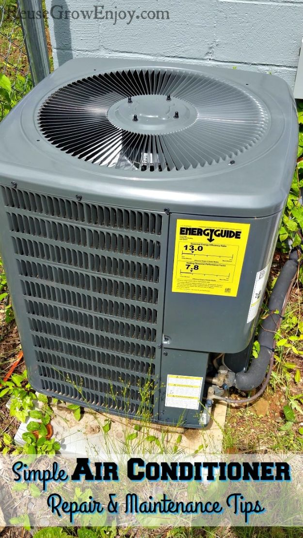 Easy Home Repair Hacks - Simple Air Conditioner Repair - Quick Ways To Fix Your Home With Cheap and Fast DIY Projects - Step by step Tutorials, Good Ideas for Renovating, Simple Tips and Tricks for Home Improvement on A Budget #diy #homeimprovement