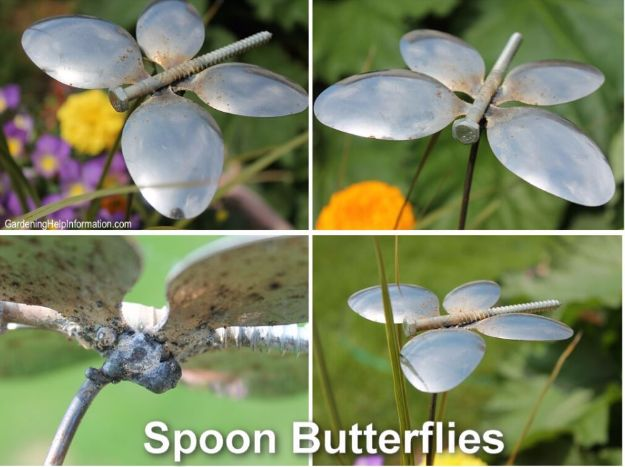 DIY Silverware Upgrades - Spoon Butterflies - Creative Ways To Improve Boring Silver Ware and Palce Settings - Paint, Decorate and Update Your Flatware With These Creative Do IT Yourself Tutorials- Forks, Knives and Spoons all Get Dressed Up With These New Looks For Kitchen and Dining Room