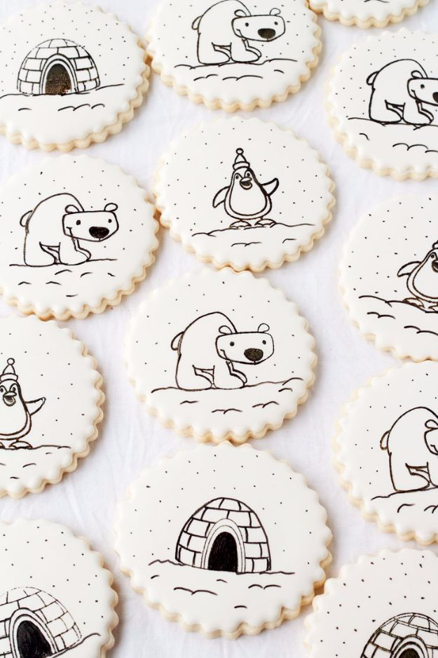 Cool Cookie Decorating Ideas - Stamp On A Cookie - Easy Ways To Decorate Cute, Adorable Cookies - Quick Recipes and Simple Decorating Tips With Icing, Candy, Chocolate, Buttercream Frosting and Fruit - Best Party Trays and Cookie Arrangements http://diyjoy.com/cookie-decorating-ideas